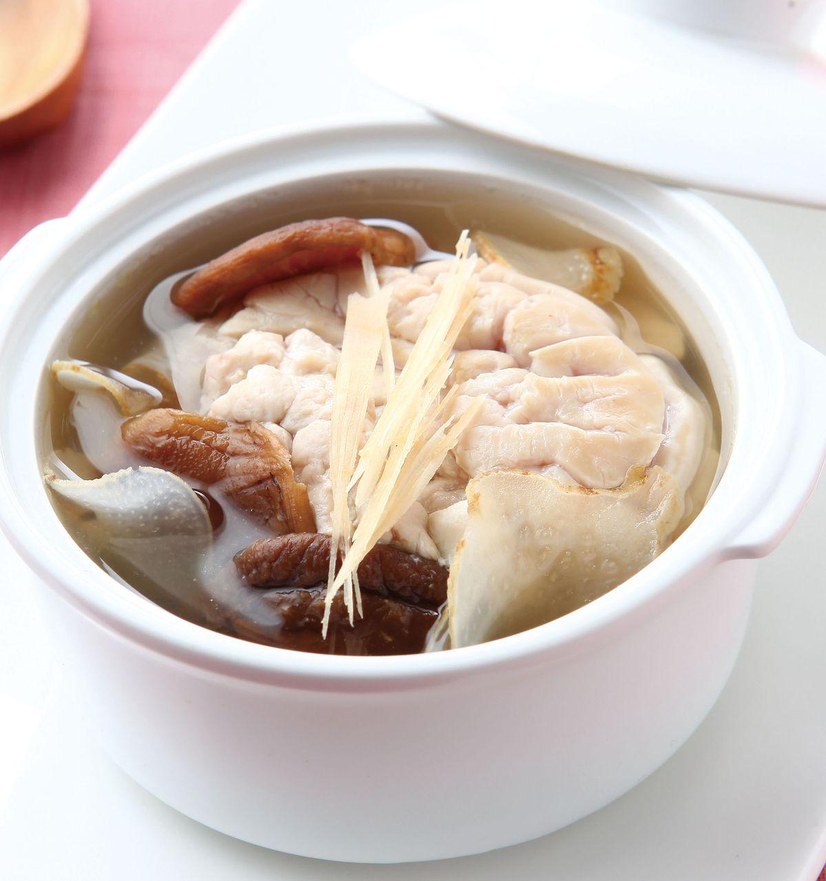 食譜:香菇天麻豬腦湯