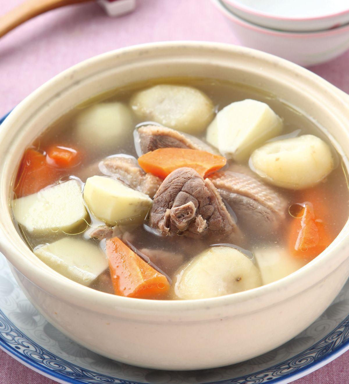 食譜:荸薺慈菇煲鴨湯