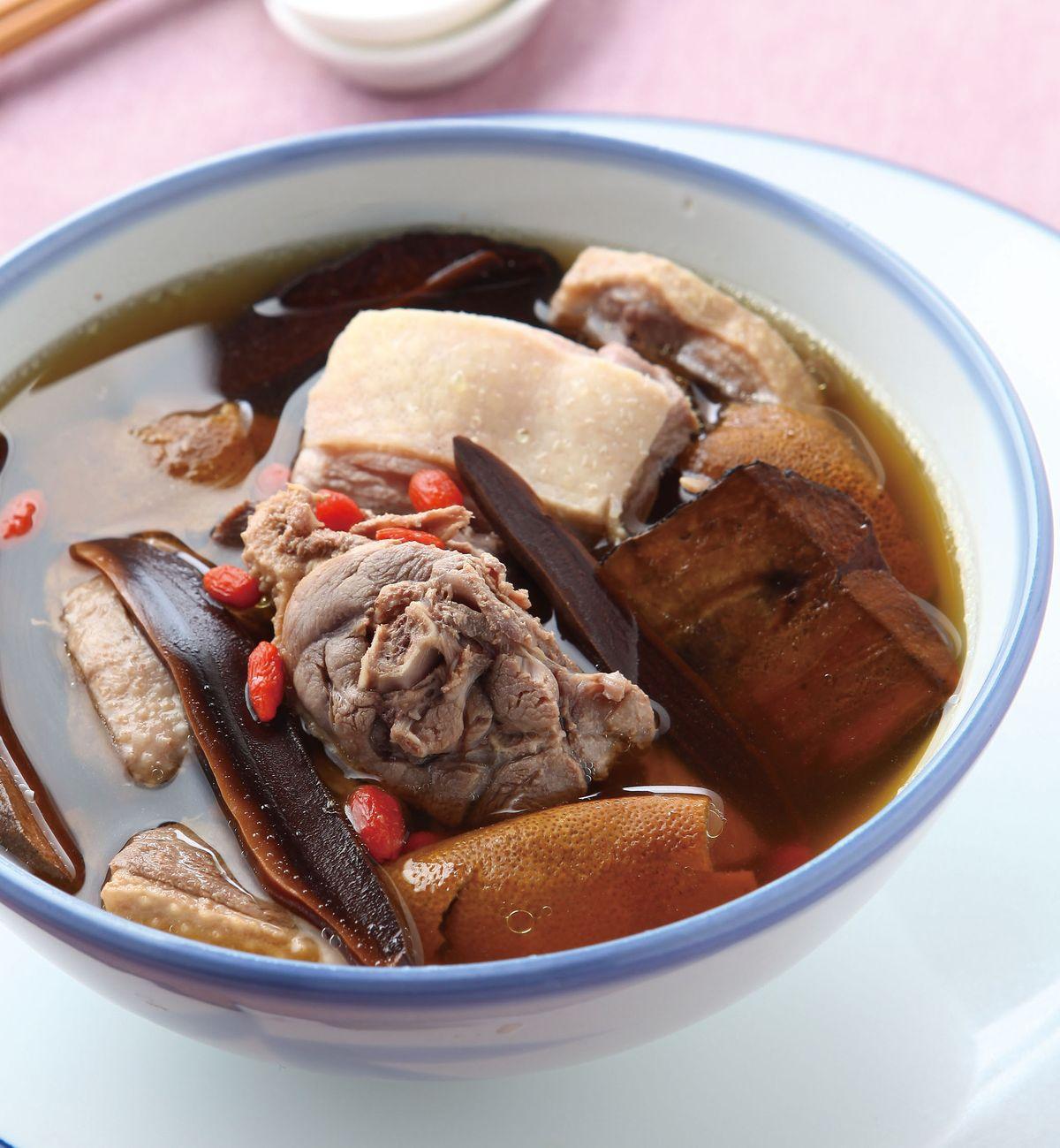 食譜:陳皮靈芝老鴨湯