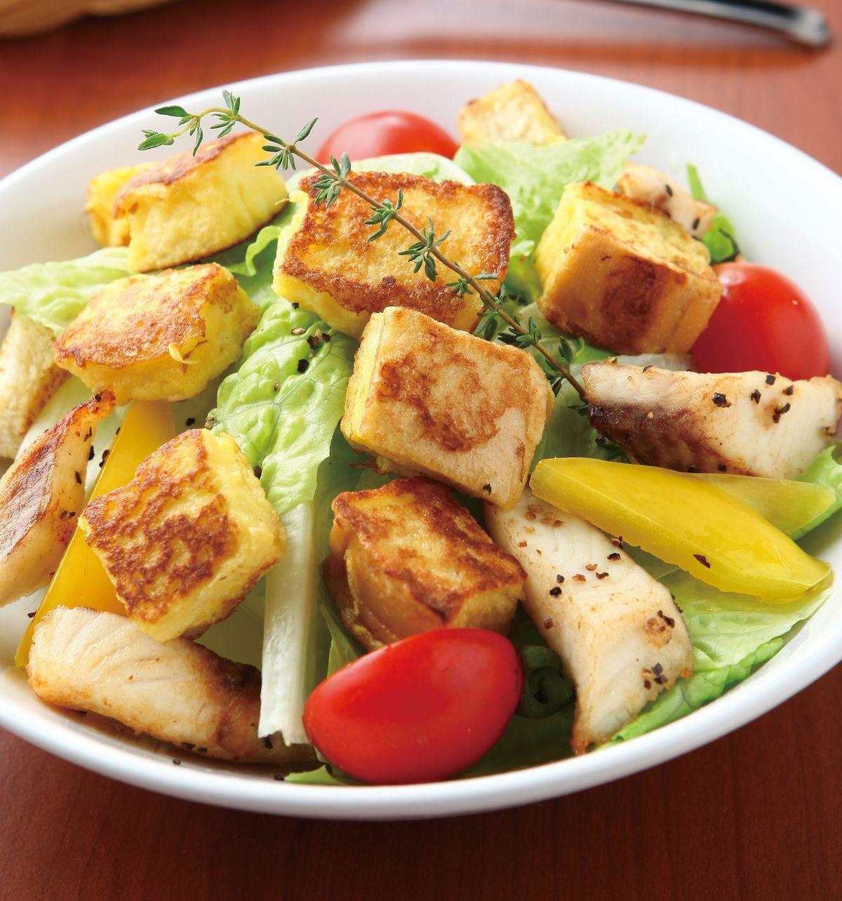 食譜:脆綠土司沙拉