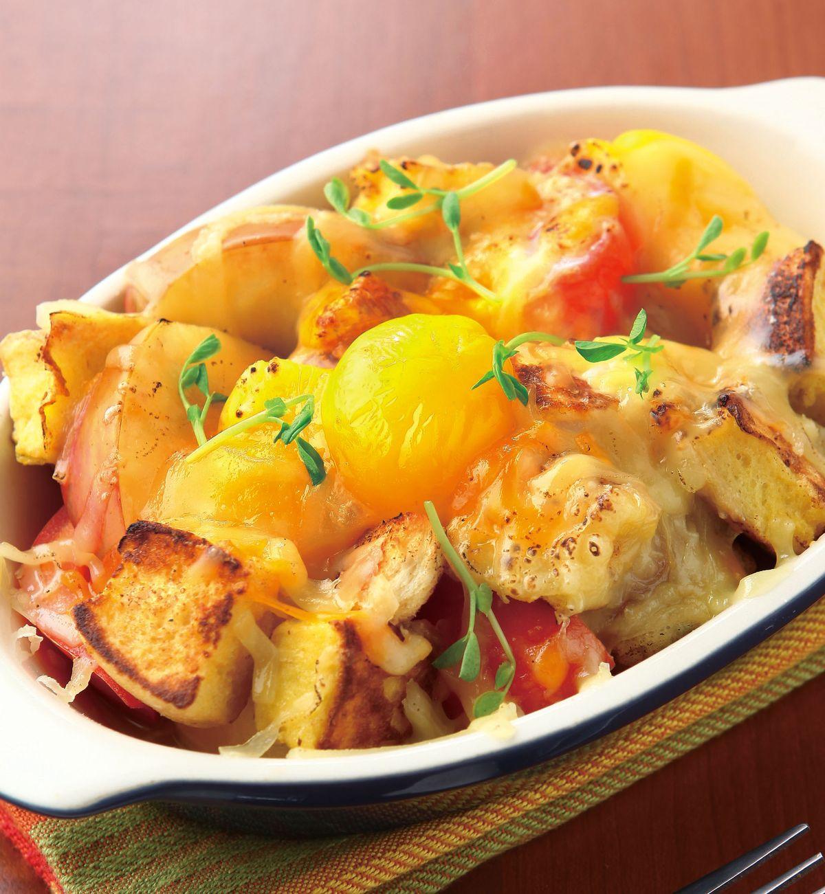 食譜:蘋果土司焗蔬菜