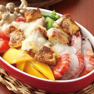 鮮蝦起司焗土司