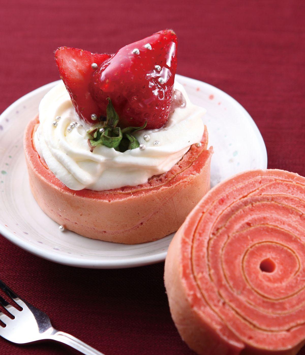 食譜:草莓年輪蛋糕