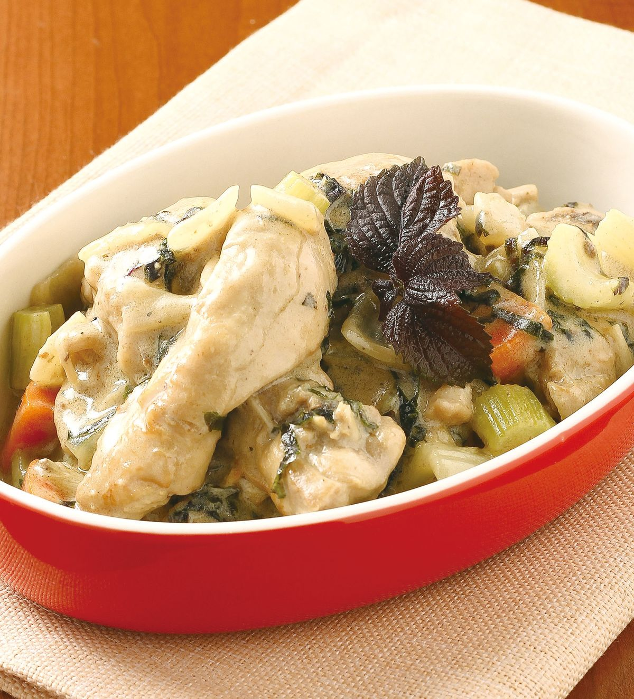 食譜:紫蘇白酒奶醬雞
