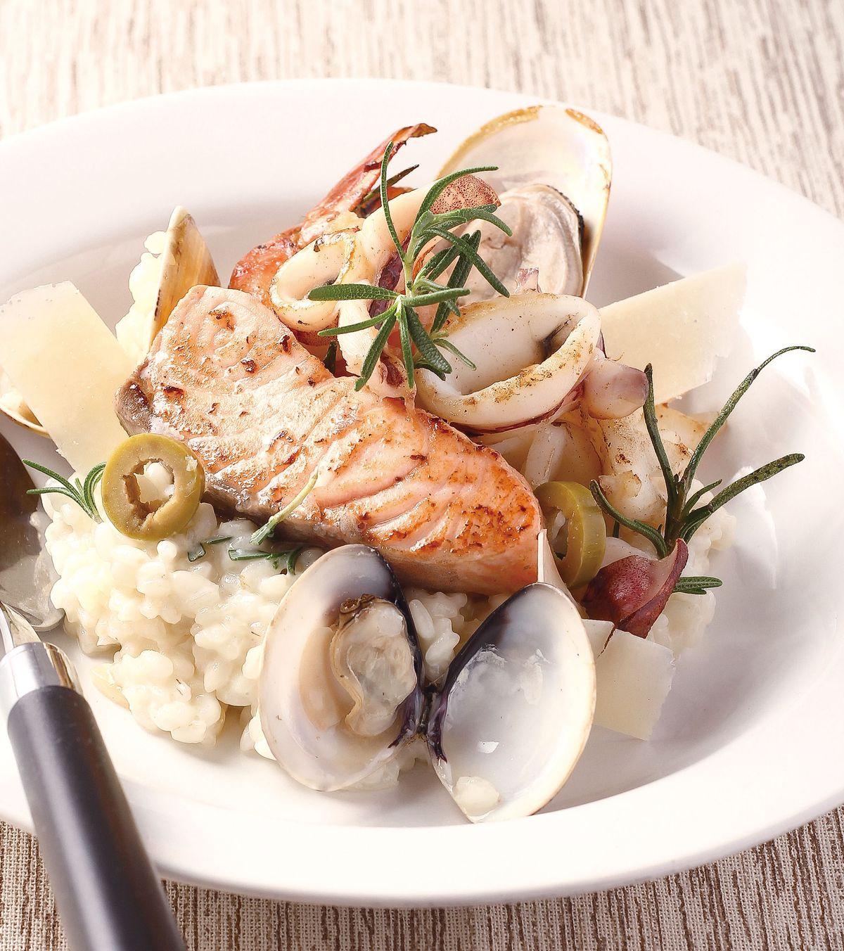 食譜:海鮮迷迭香燉飯