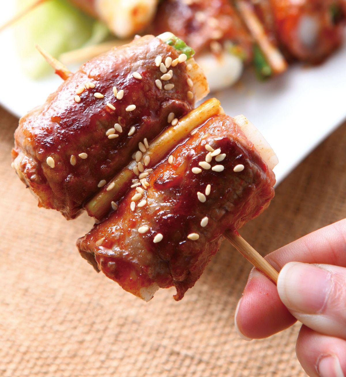 食譜:年糕牛肉捲串