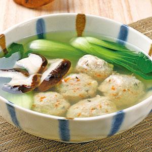 豆腐蔬菜丸湯