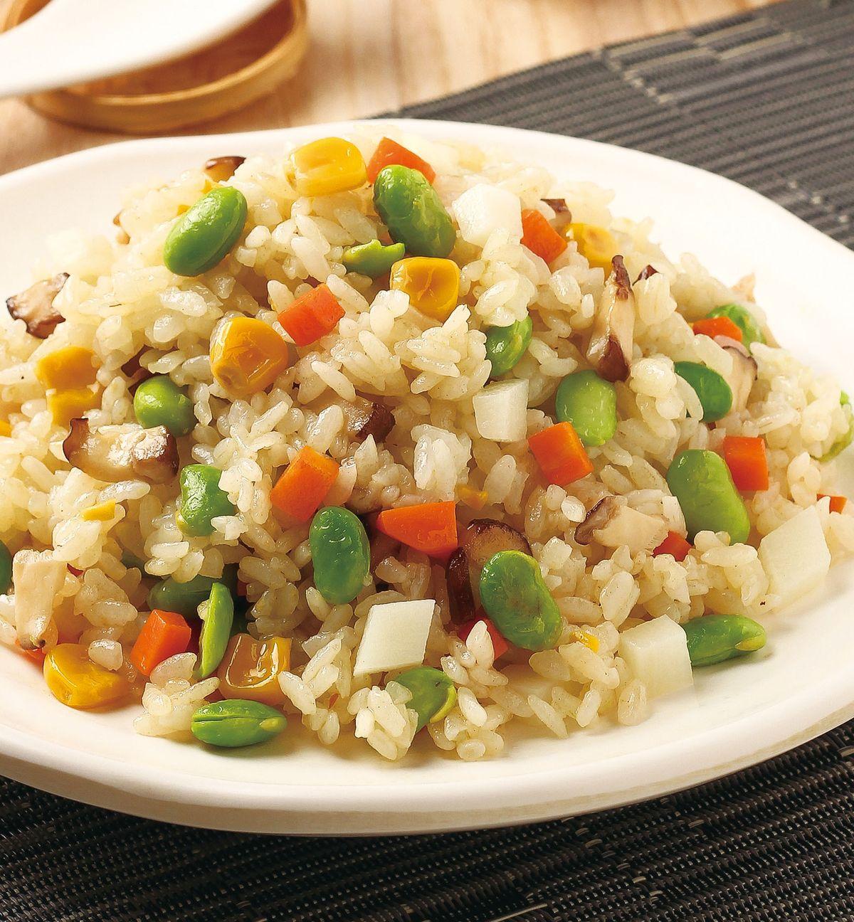 食譜:五彩鮮蔬炒飯
