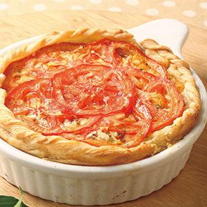 番茄培根通心粉派