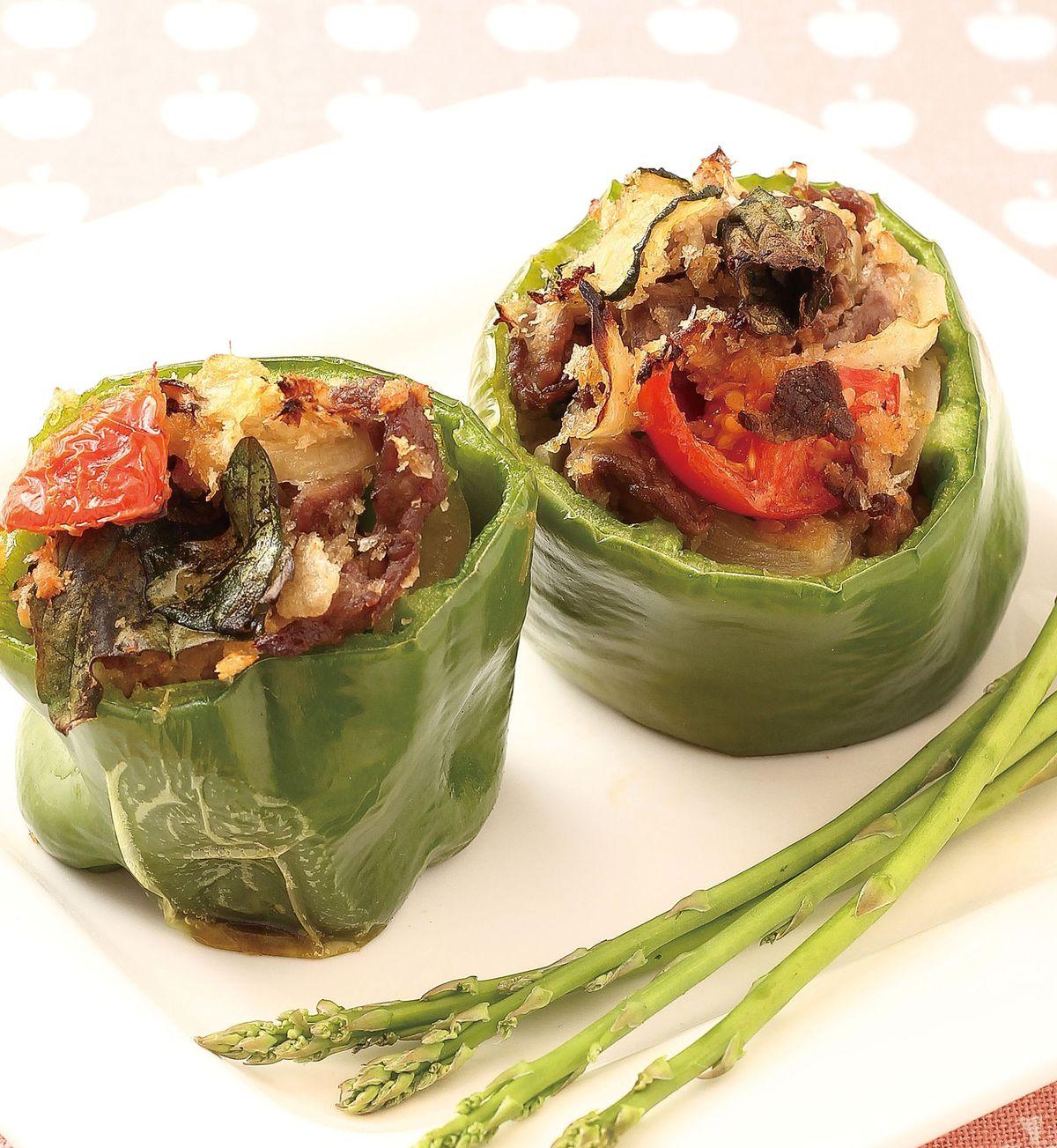 食譜:青椒黃瓜牛肉盅