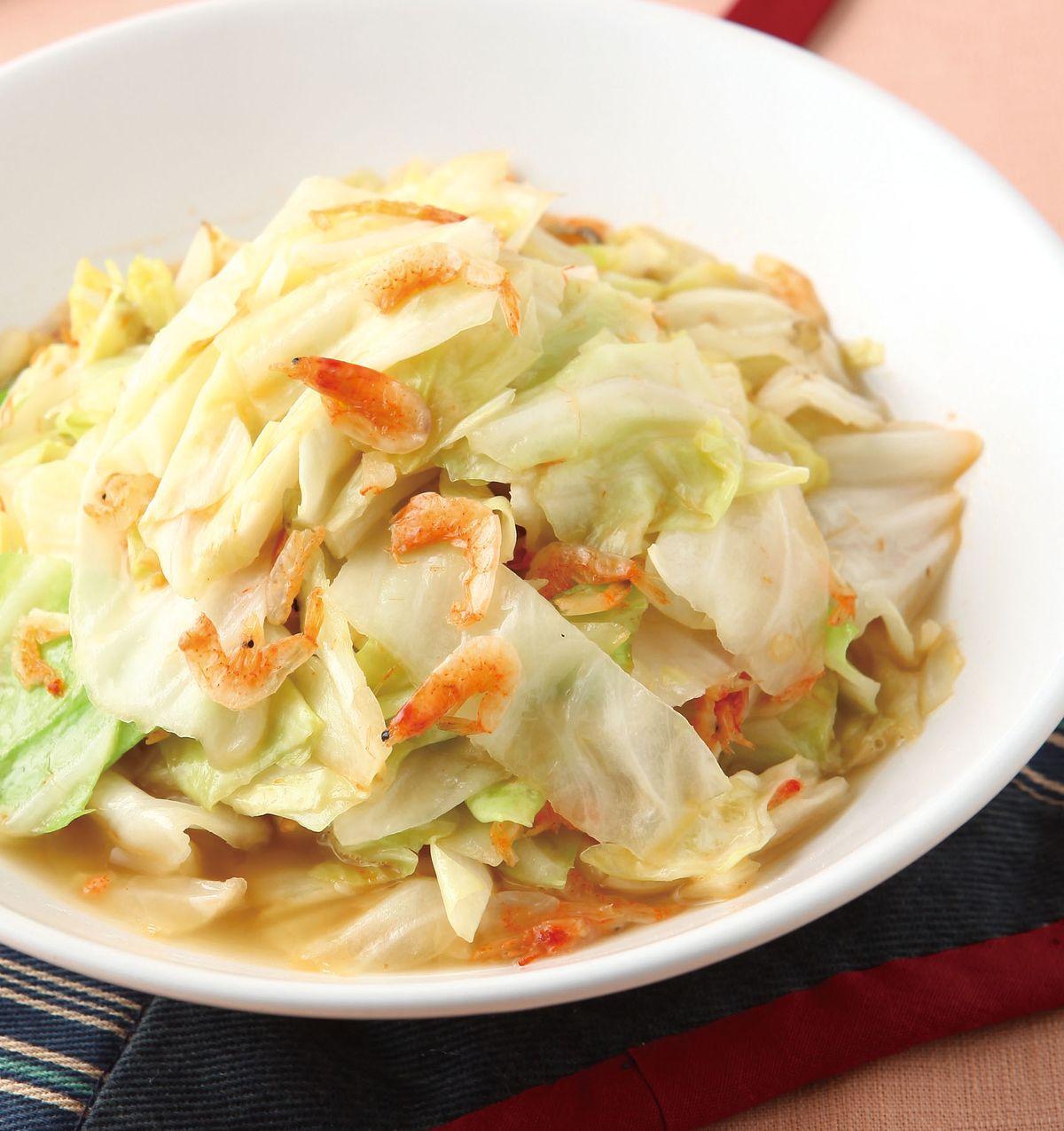 食譜:櫻花蝦炒高麗菜(2)