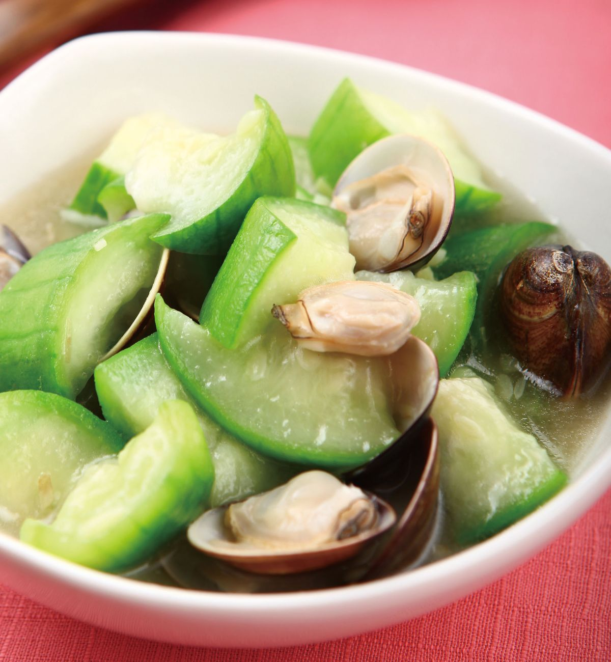 食譜:蛤蠣絲瓜(1)