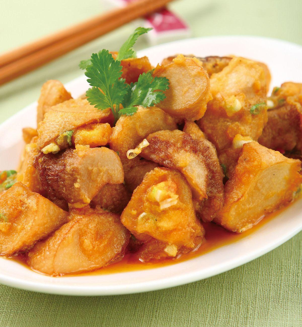 食譜:金沙杏鮑菇(5)