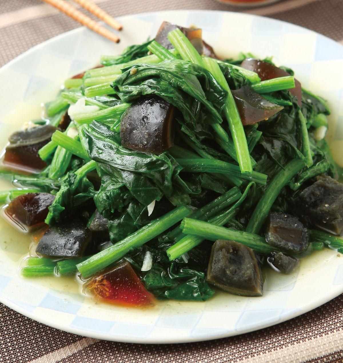 食譜:皮蛋炒波菜