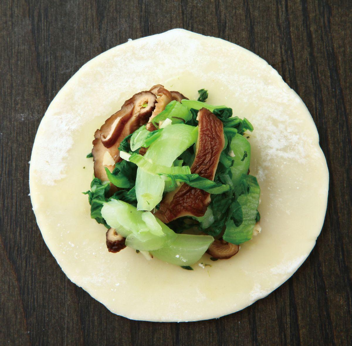 食譜:青江蔬菜餡