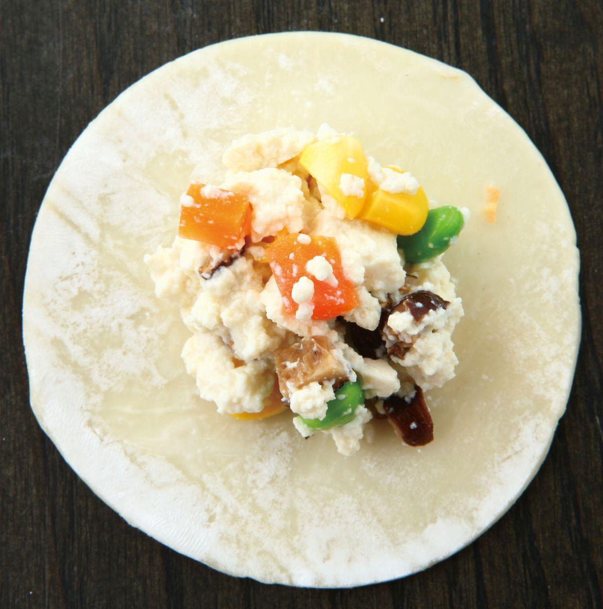 食譜:彩蔬豆腐餡