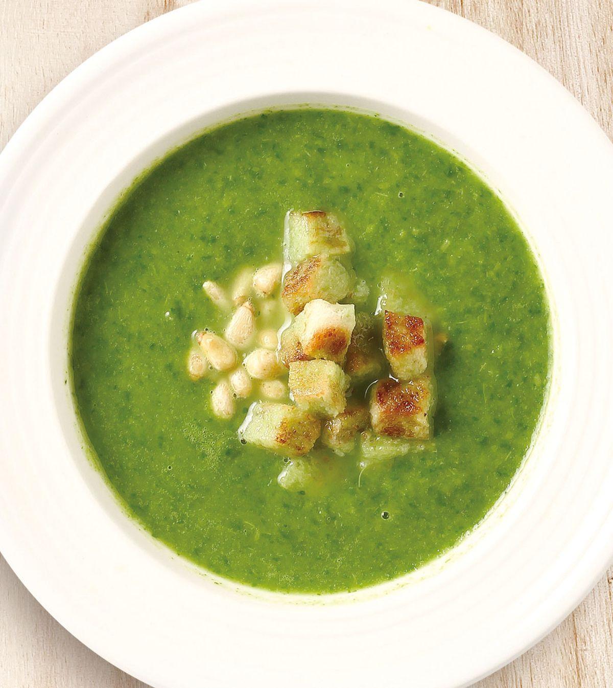 食譜:菠菜松子濃湯