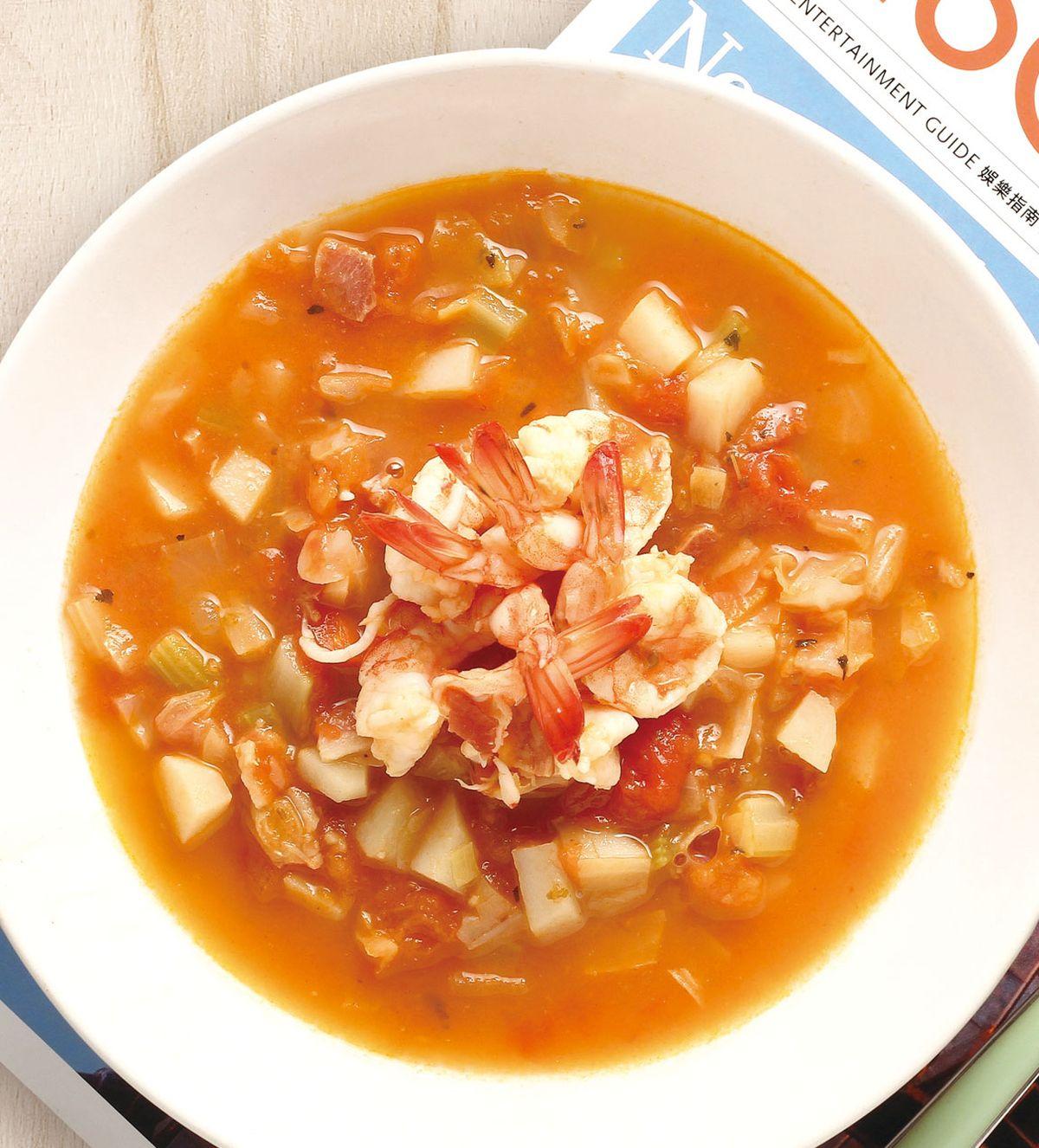 食譜:義式鮮蝦蔬菜湯