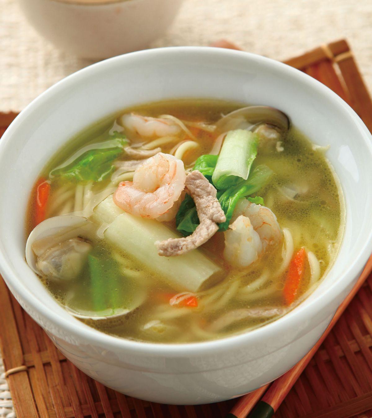 食譜:什錦海鮮湯麵