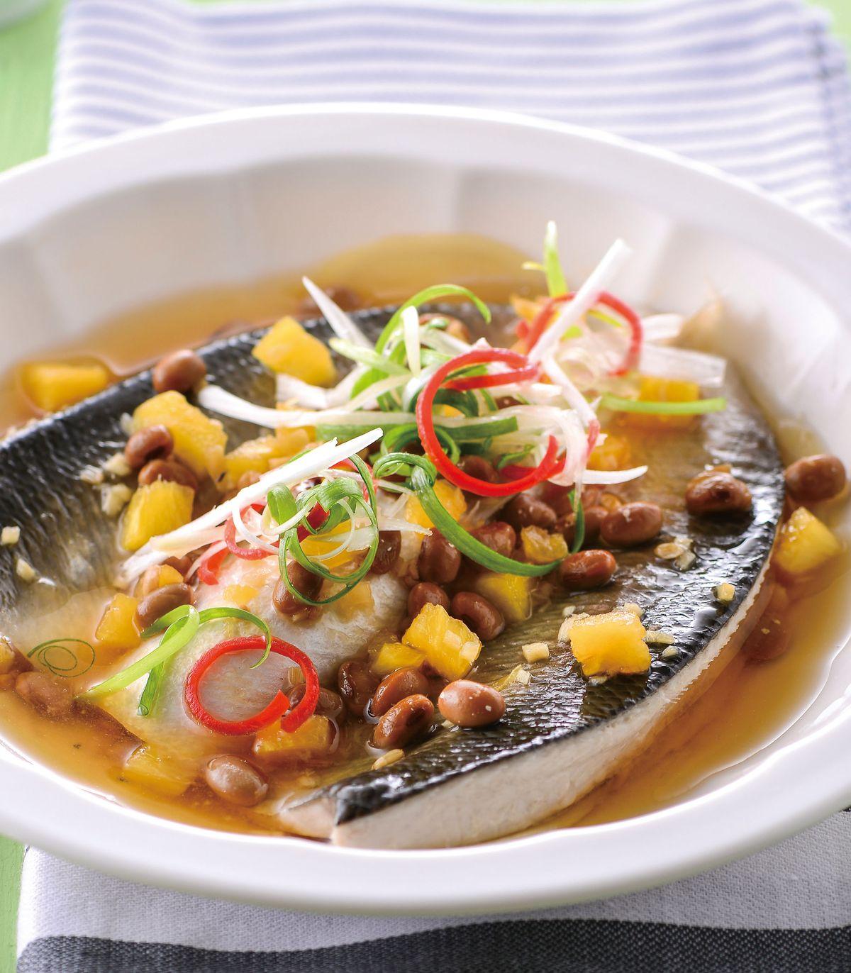 食譜:鳳梨豆醬蒸虱目魚肚