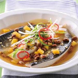 鳳梨豆醬蒸虱目魚肚