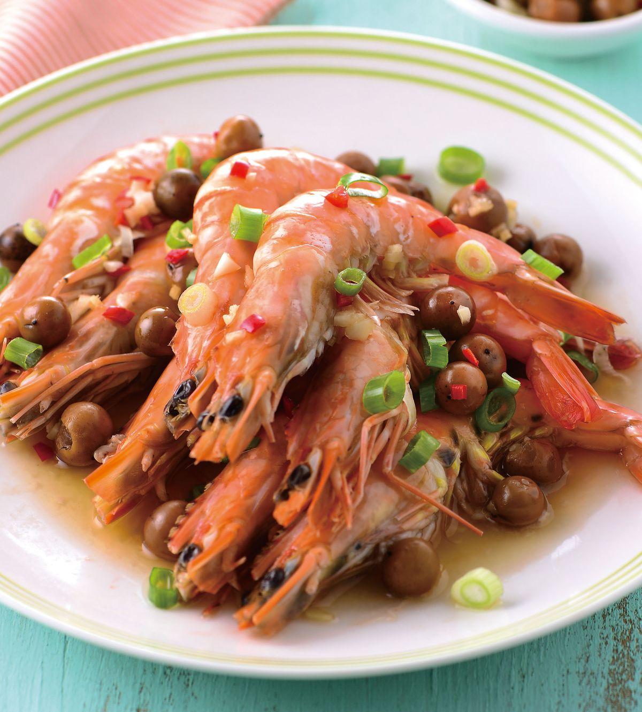 食譜:樹子蒸蝦