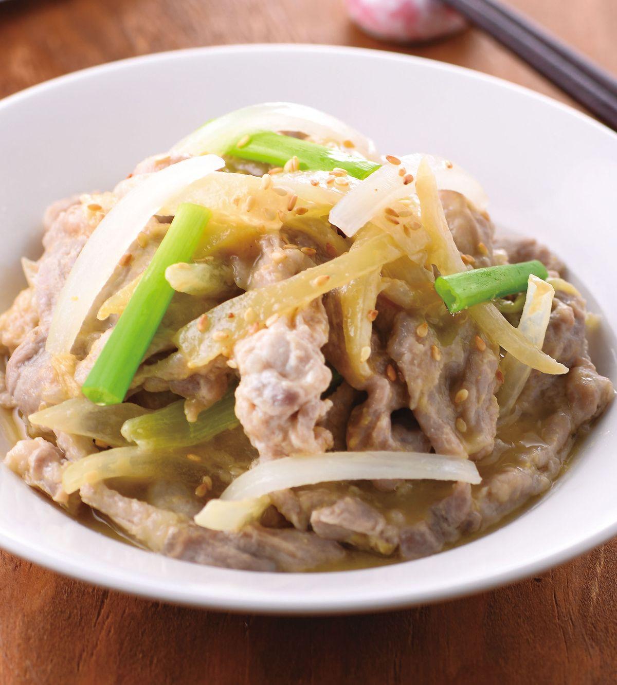 食譜:味噌醬蒸肉片
