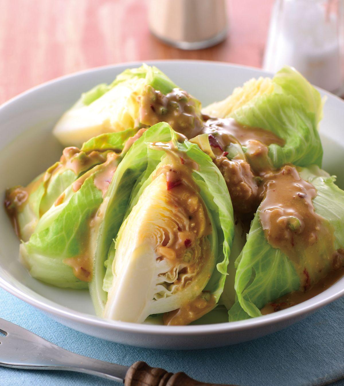 食譜:腐乳醬蒸高麗菜苗