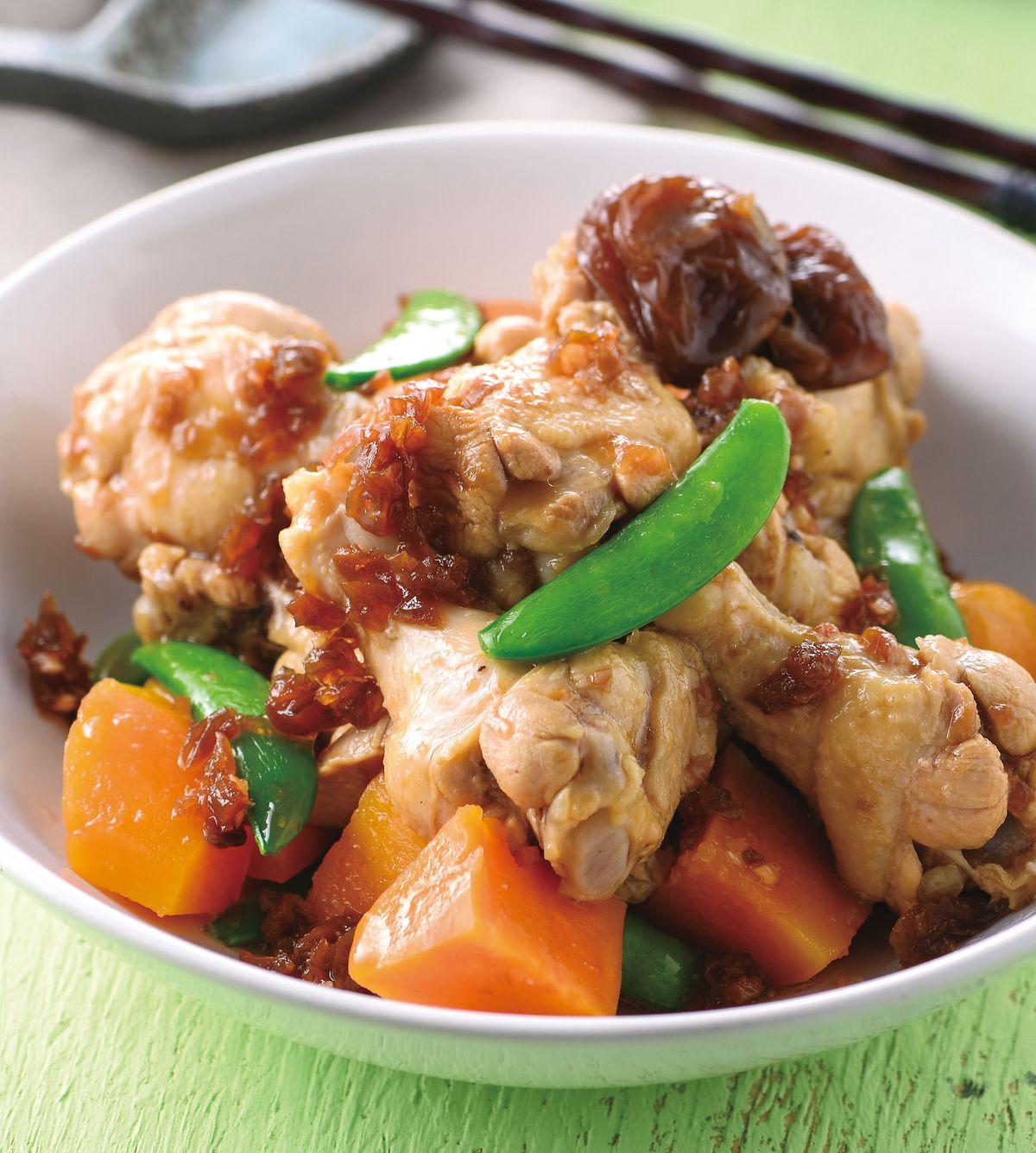 食譜:梅香醬蒸雞