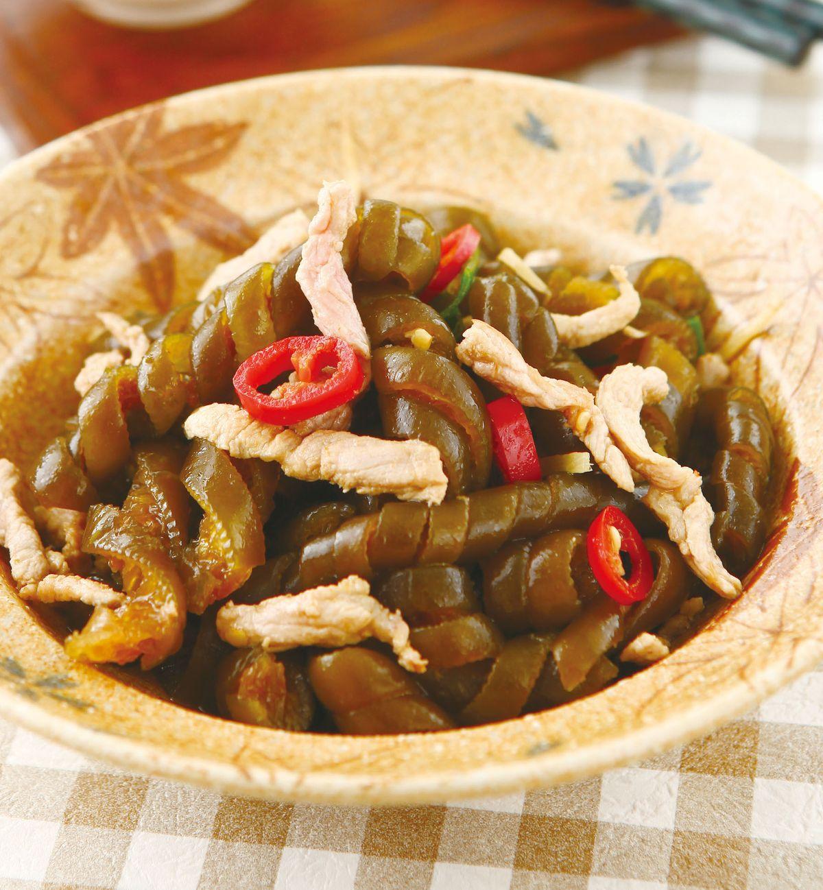 食譜:肉絲炒海龍