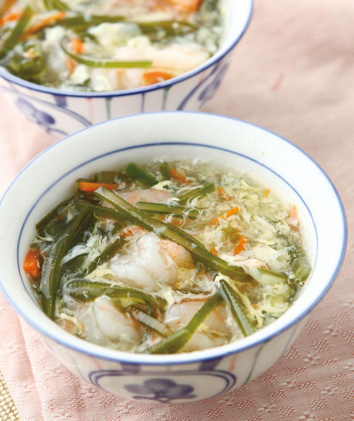 食譜:海帶絲蝦仁羹