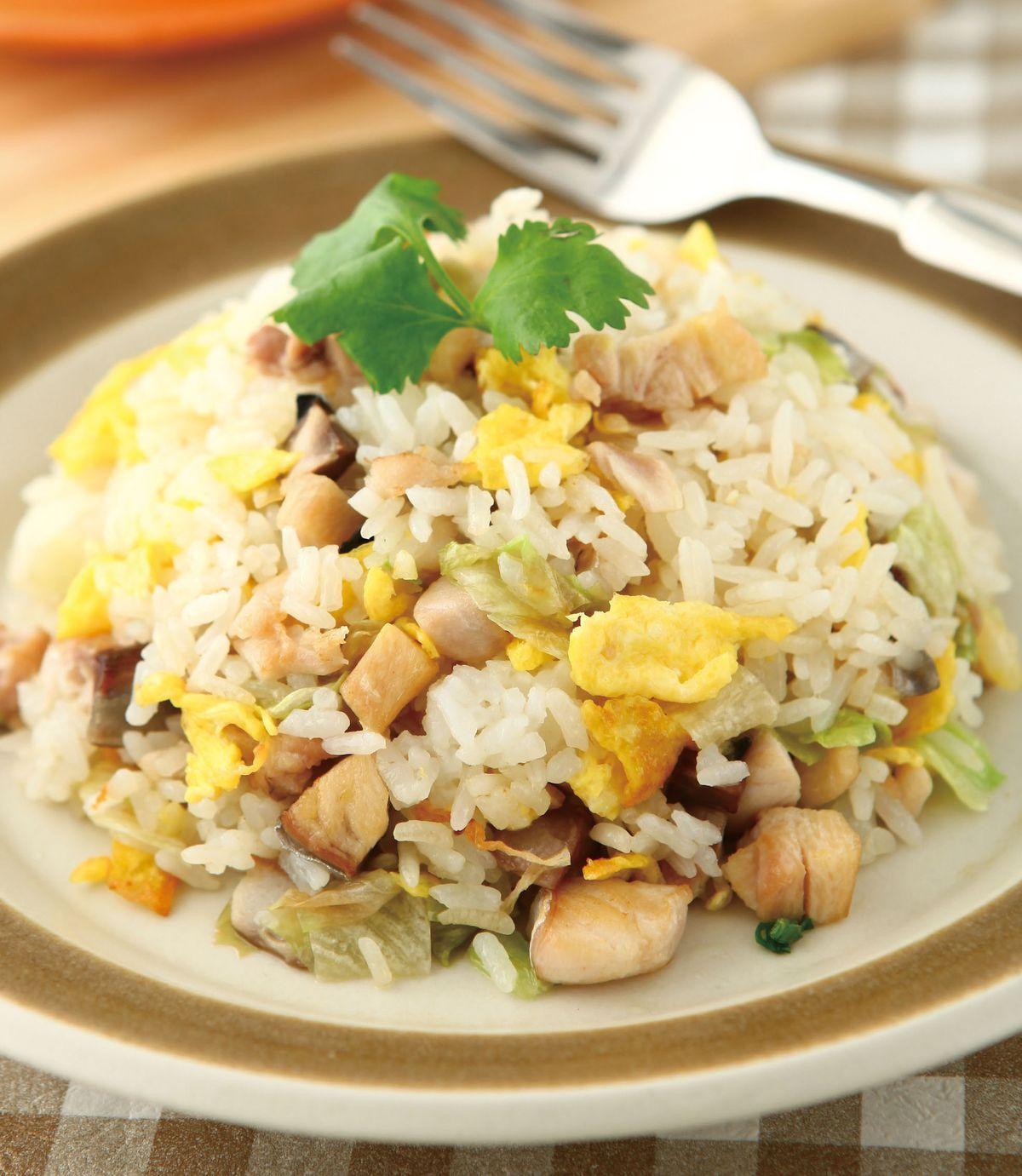 食譜:鹹魚雞粒炒飯(3)