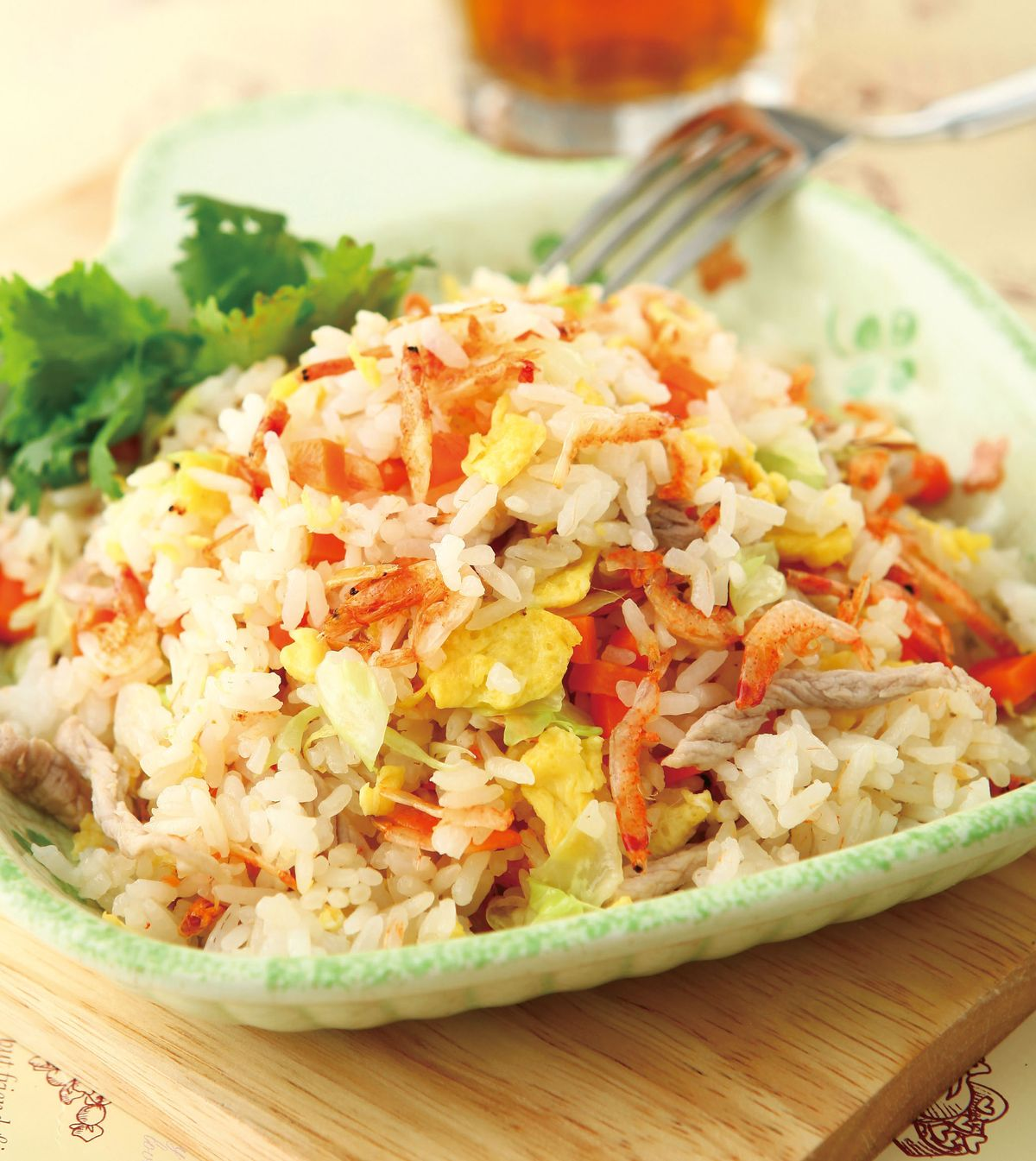 食譜:櫻花蝦肉絲炒飯