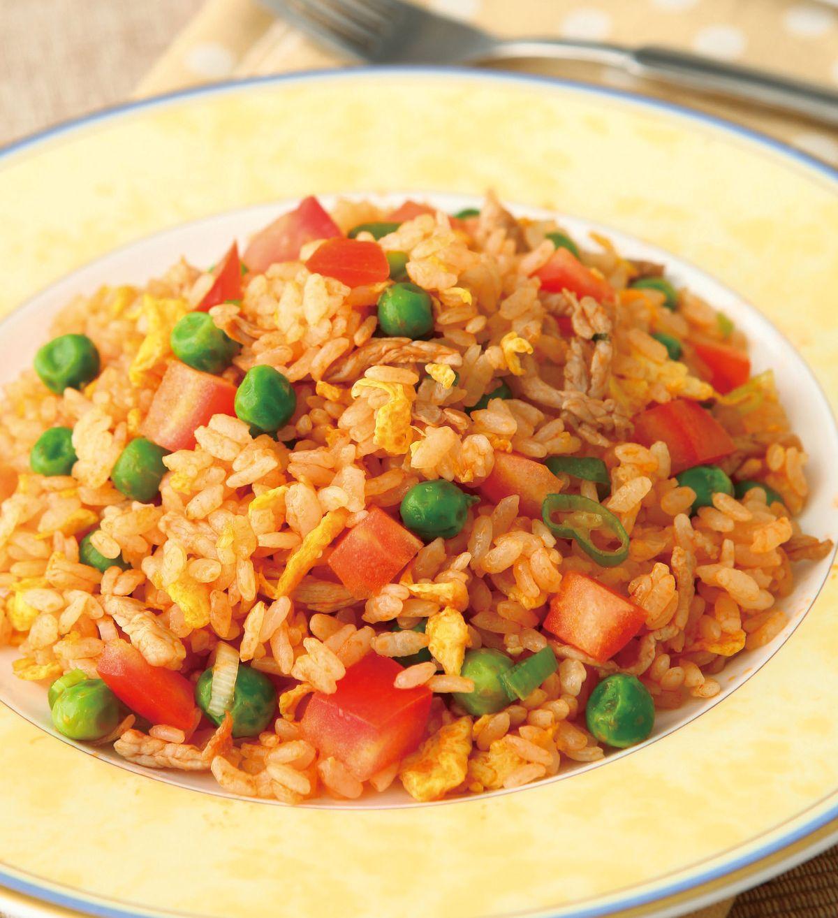食譜:番茄肉絲炒飯