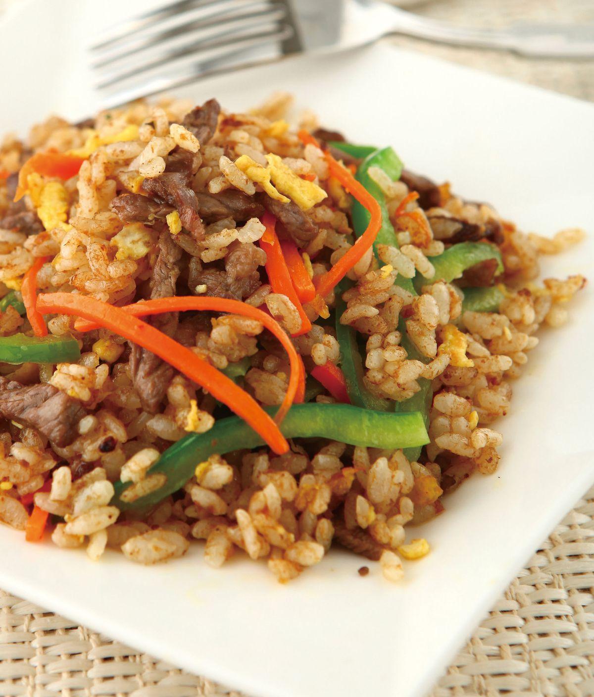 食譜:沙茶青椒牛肉炒飯