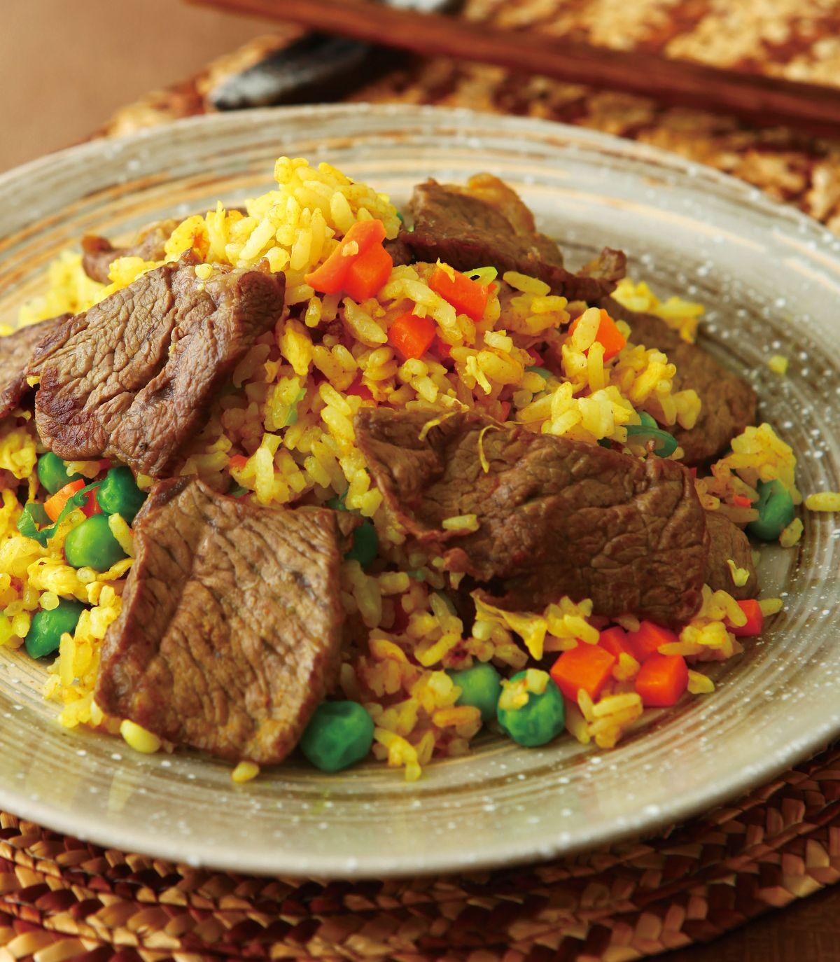 食譜:薑黃牛肉炒飯