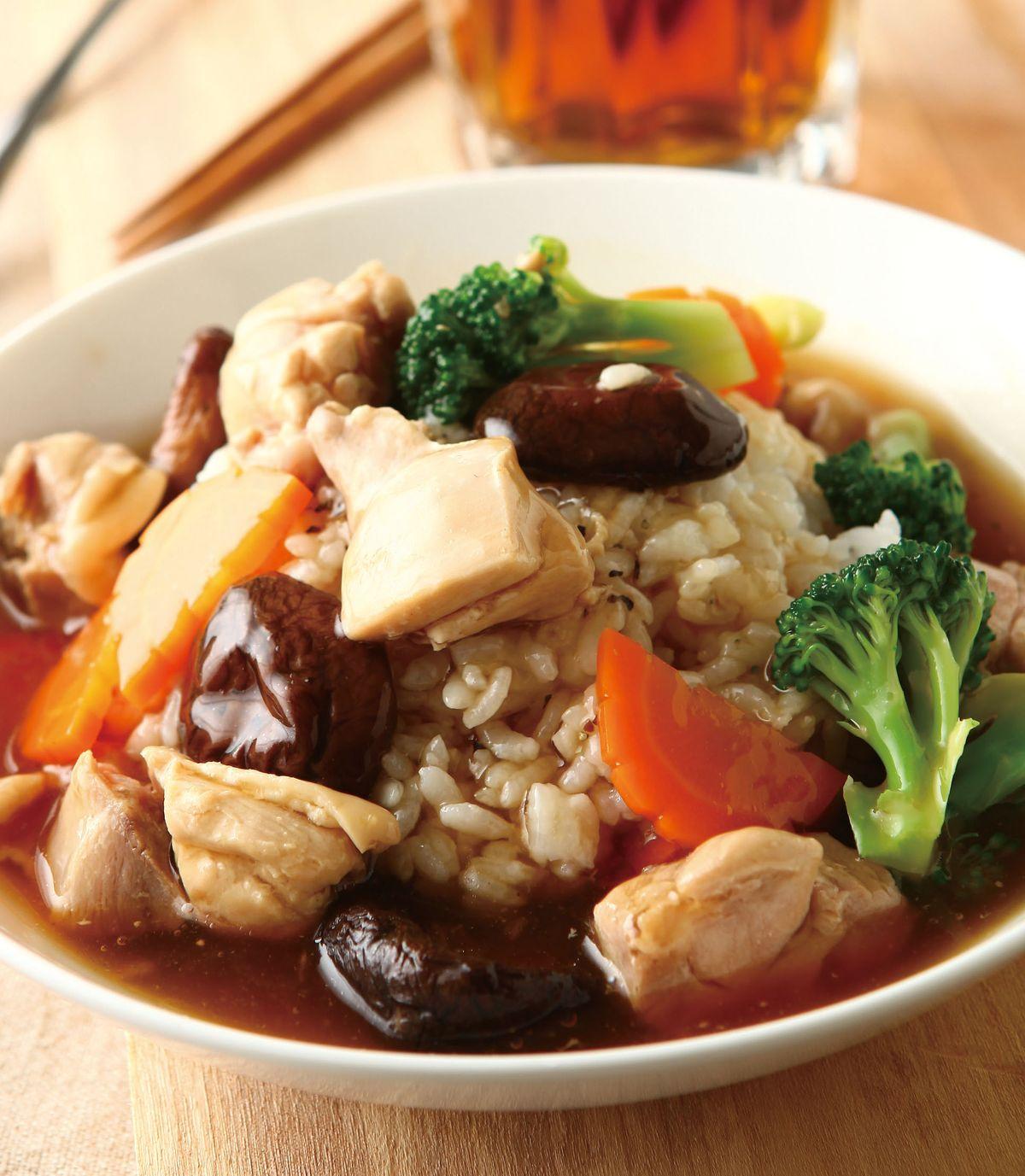 食譜:北菇雞球飯
