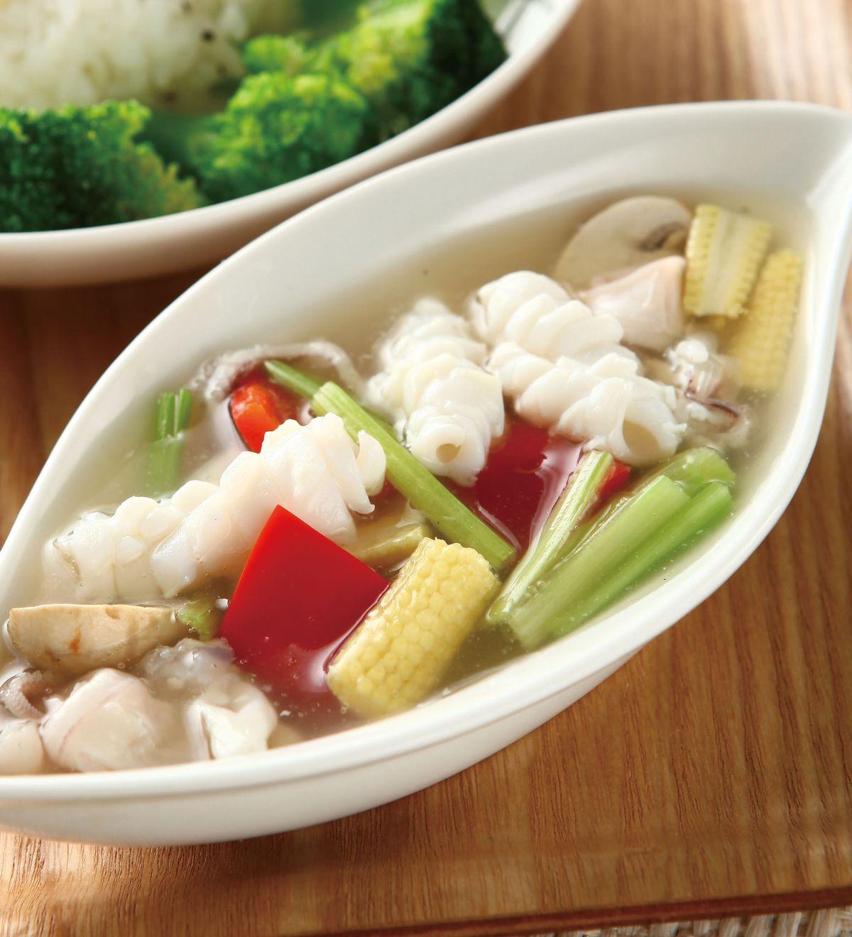 食譜:時菜鮮魷飯