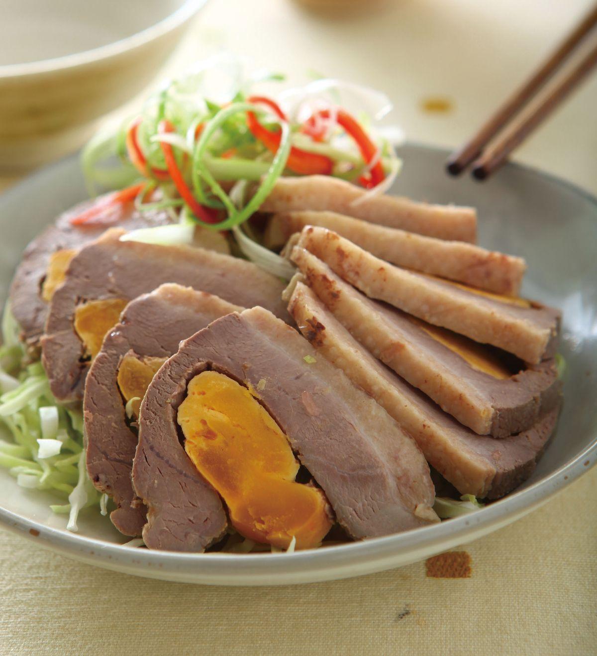 食譜:蛋黃鴨肉