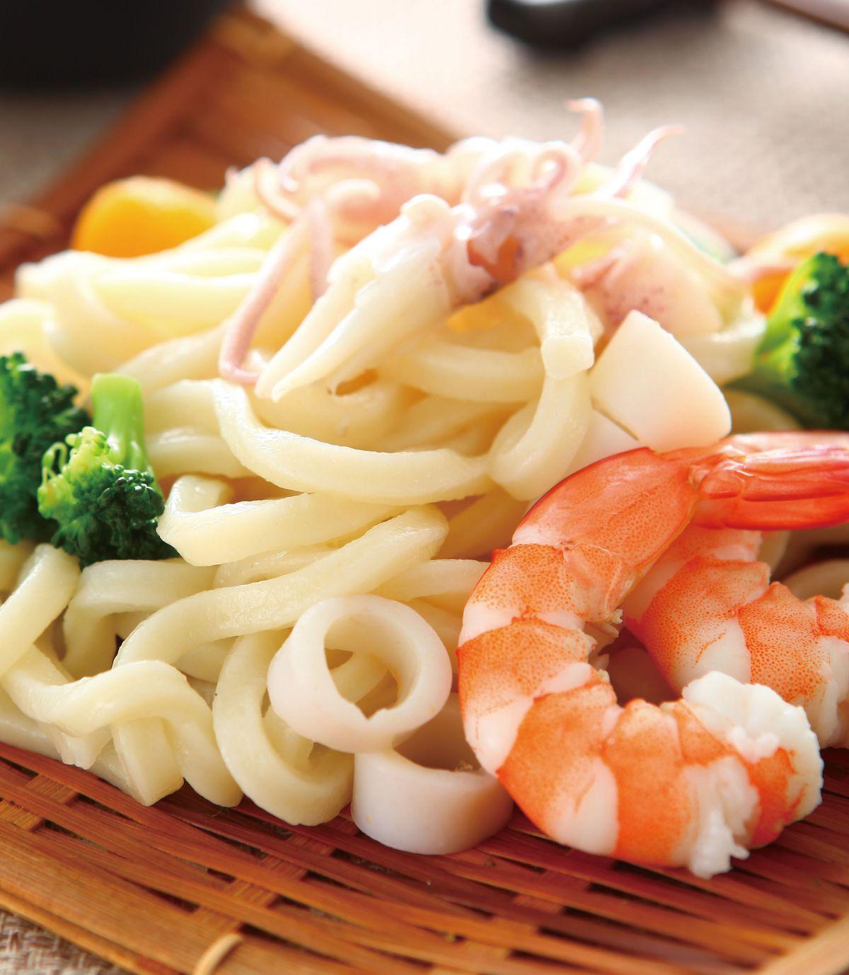 食譜:海鮮烏龍冷麵