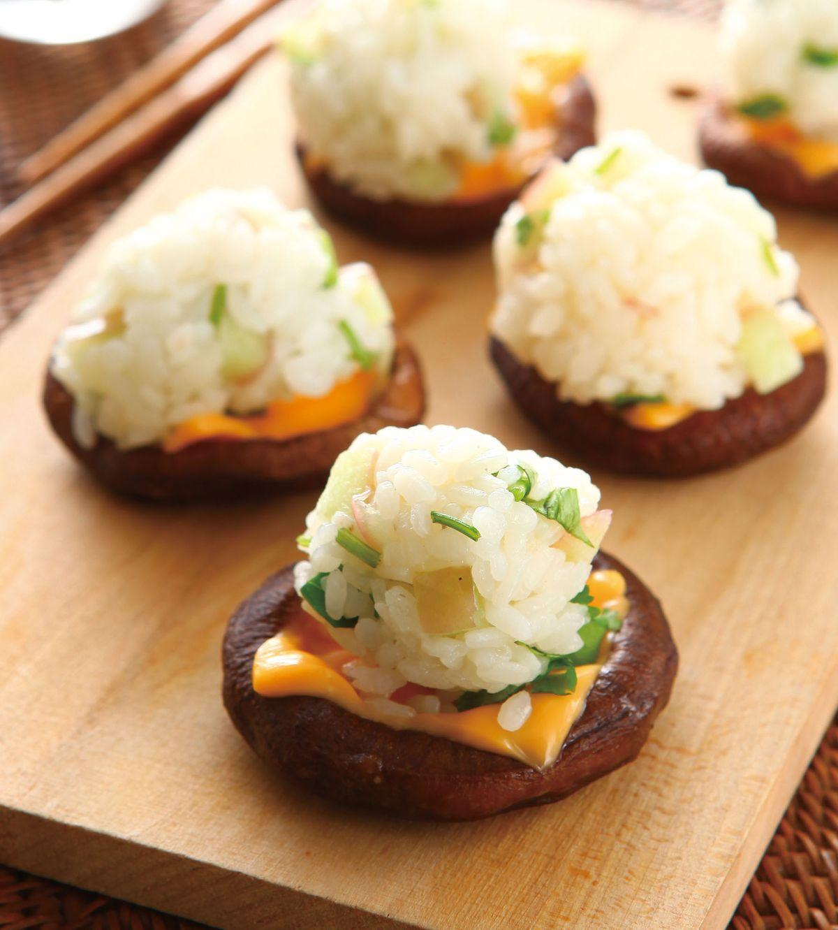 食譜:燒菇一口壽司