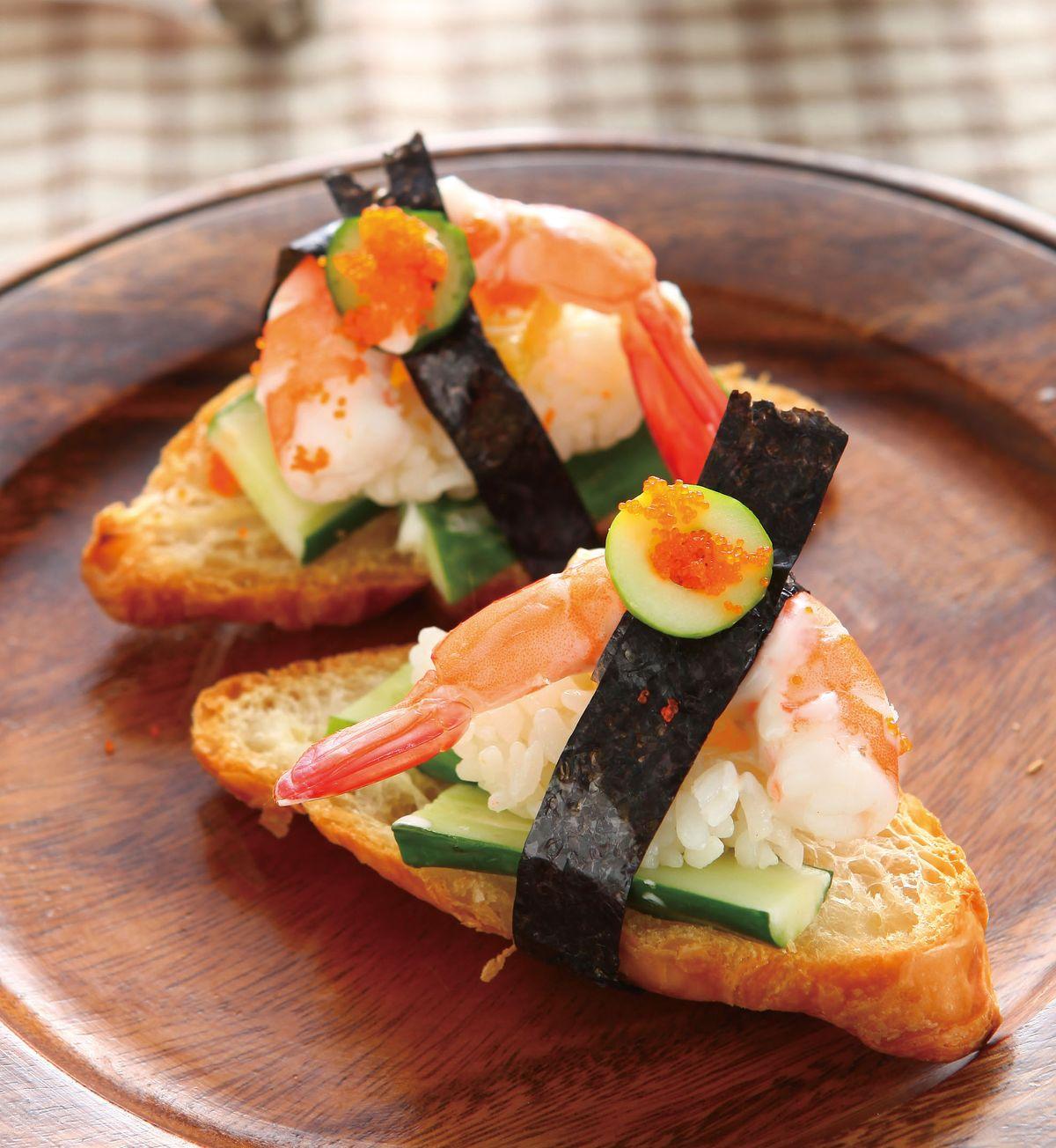 食譜:牛角壽司三明治