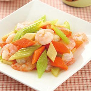 鮮美三彩蝦