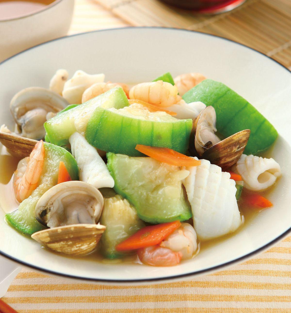 食譜:三鮮絲瓜