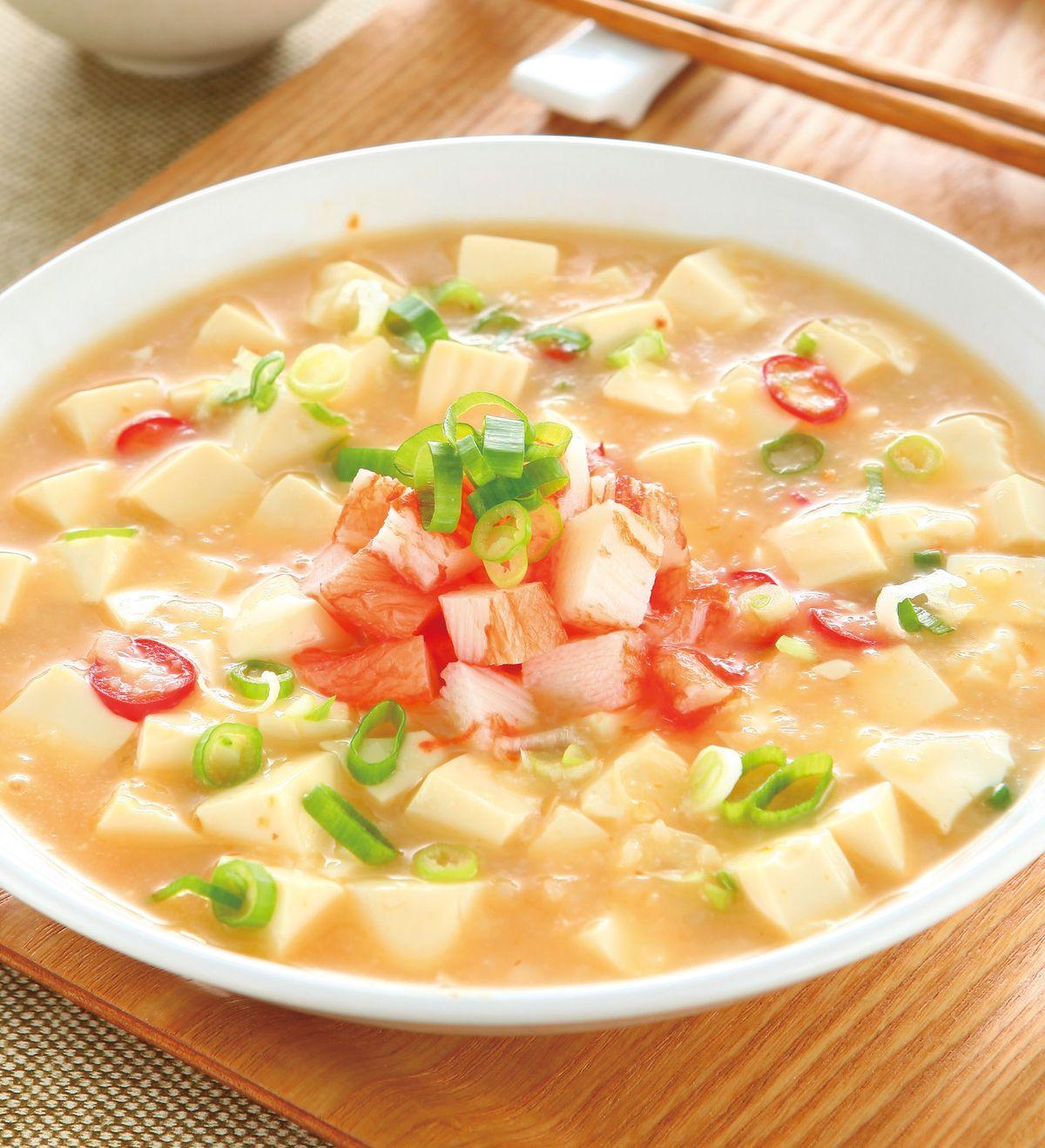食譜:蟹肉燴豆腐(1)