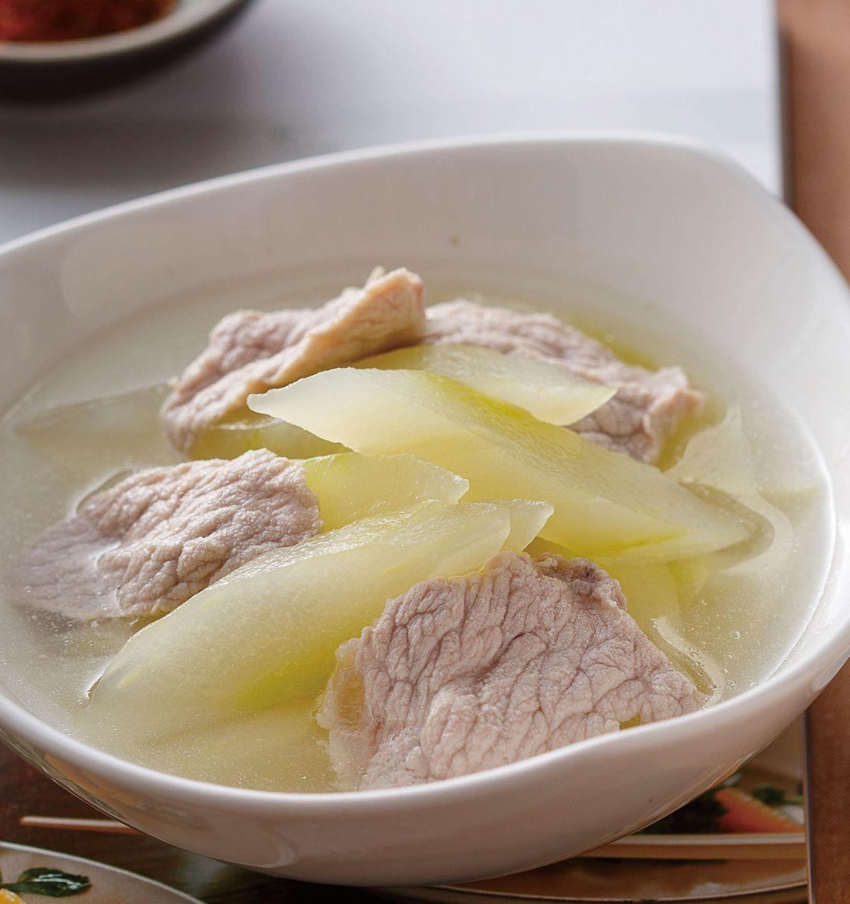 食譜:大黃瓜肉片湯