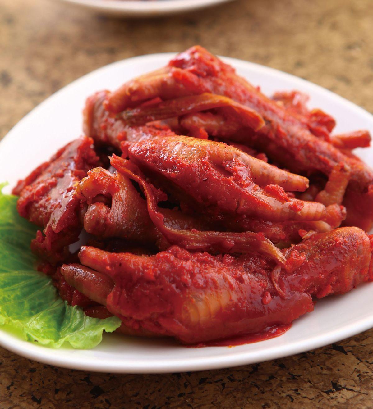 食譜:紅麴雞腳凍