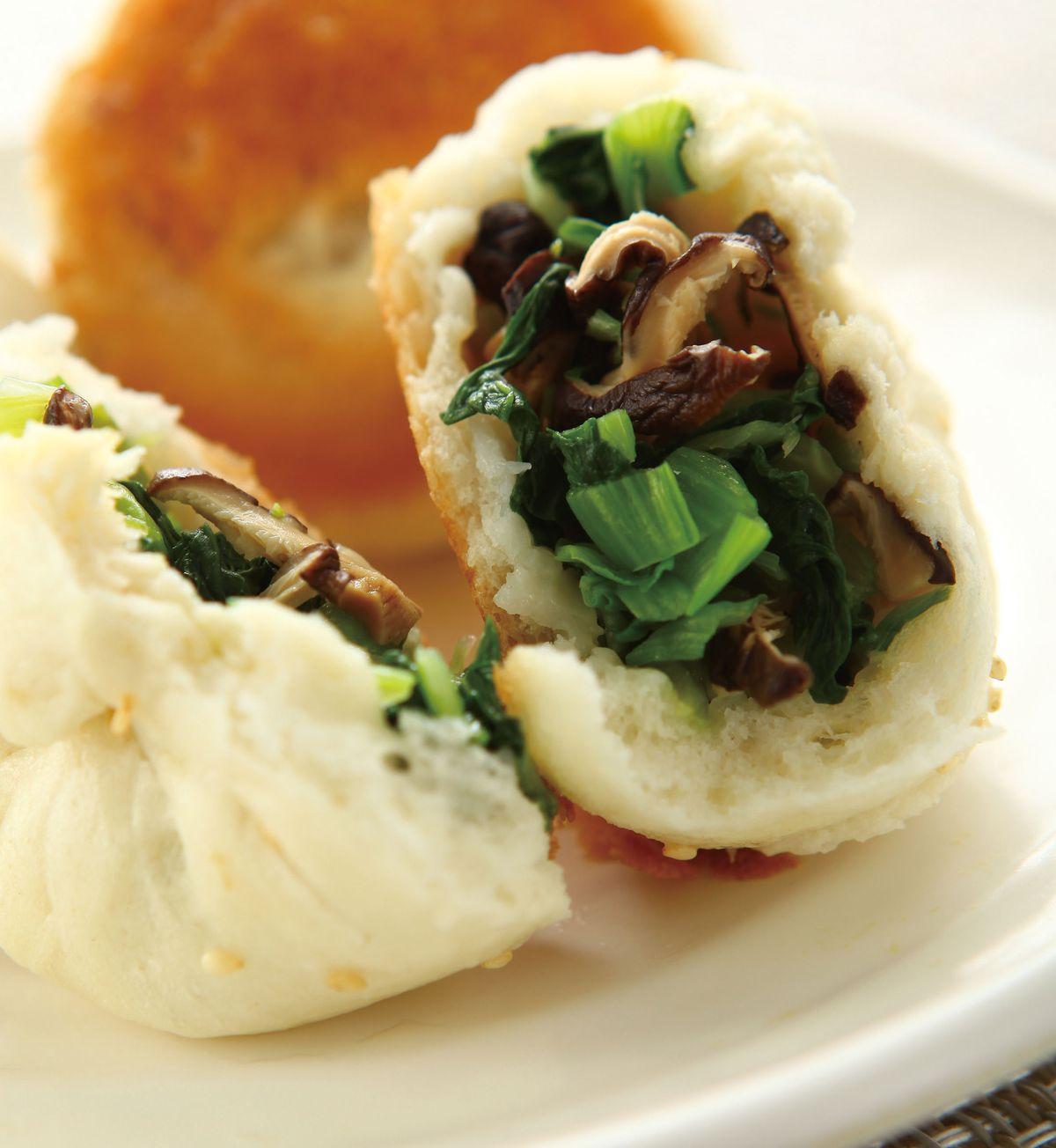 食譜:青江菜煎包
