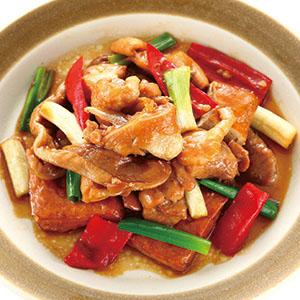 蘿蔔豆乾燒雞
