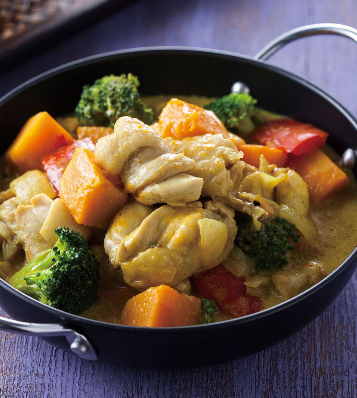 食譜:南瓜咖哩燉雞
